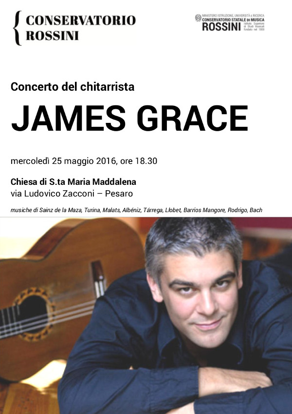 Locandina concerto James Grace